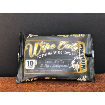 Wipe Outz Dry - Sterile Tattoo Tücher - 10er Pack